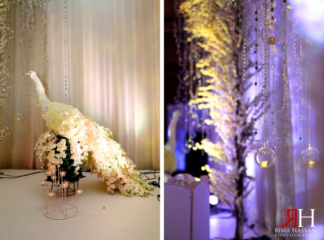 Hanging Candles on Wedding Stage