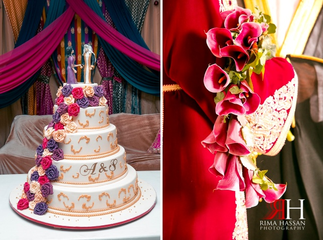 Jumeirah_Dubai_Wedding_Photographer_Rima_Hassan_cake_bouquet