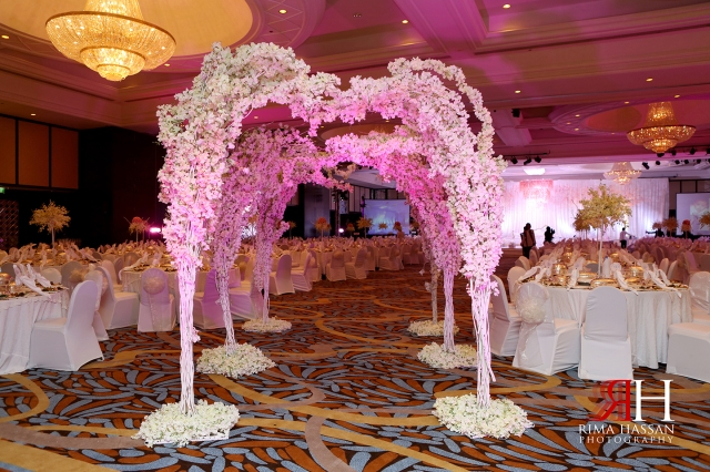 Wedding_Photographer_Dubai_UAE_Rima_Hassan_decoration_kosha_stage_dream_wedding_entrance_flowers