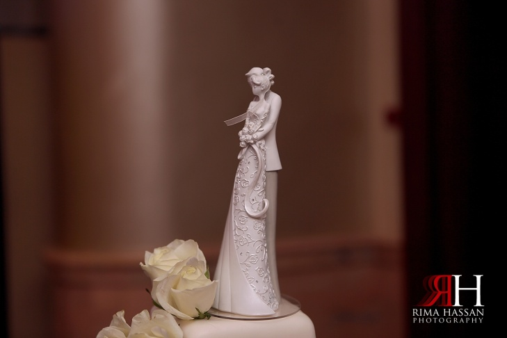 Crowne_Plaza_Wedding_Photography_Female_photographer_Dubai_UAE_Rima_Hassan_bride_cake_topper