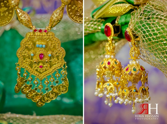 Henna_Wedding_Female_photographer_Dubai_UAE_Rima_Hassan_bridal_gold_jewelry_earring