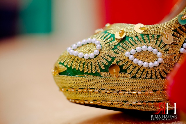 Henna_Wedding_Female_photographer_Dubai_UAE_Rima_Hassan_bridal_shoe_detail