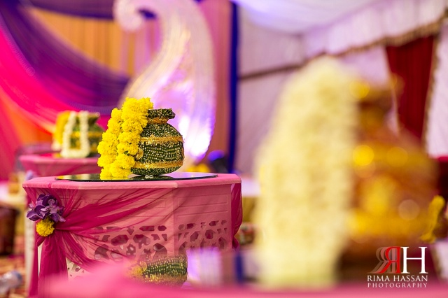 Henna_Photography_Dubai_Female_Wedding_Photographer_UAE_Rima_Hassan_indian_theme_kosha_decoration_stage_gota_jasmine