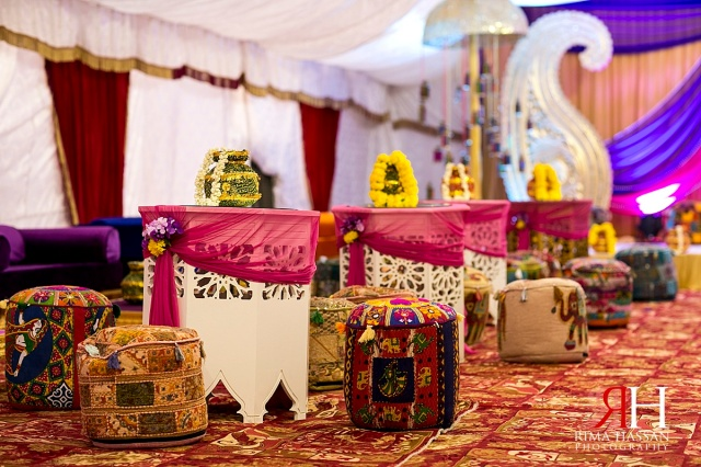 Henna_Photography_Dubai_Female_Wedding_Photographer_UAE_Rima_Hassan_indian_theme_kosha_decoration_stage_table-setup
