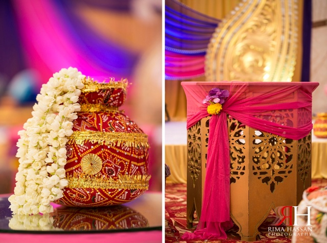 Henna_Photography_Dubai_Female_Wedding_Photographer_UAE_Rima_Hassan_indian_theme_kosha_decoration_stage_table_centerpiece