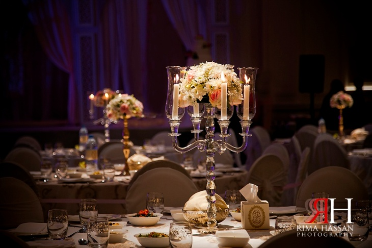 Hyatt_Regency_Hotel_Dubai_Wedding_Photography_Female_photographer_UAE_Rima_Hassan_kosha_decoration_stage_centerpiece