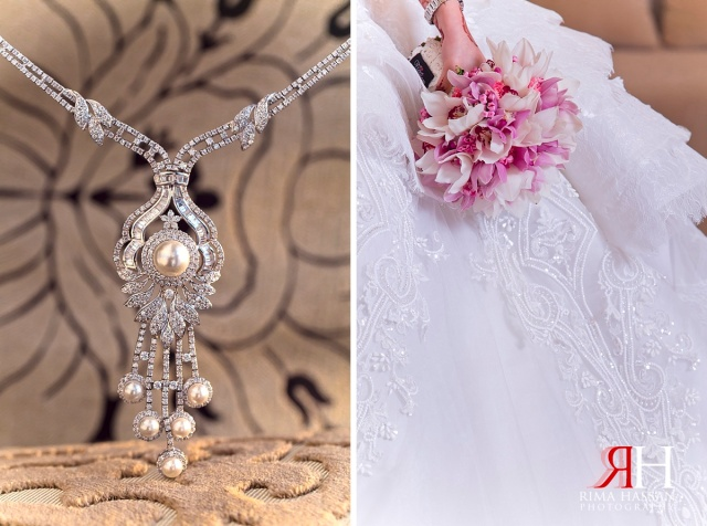 LeMeridian_Wedding_Photography_Dubai_Female_Photographer_UAE_Rima_Hassan_bridal_jewelry_diamond_necklace_Michael_cinco_dress
