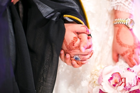 Trade_Center_Zabeel_Dubai_Wedding_Female_Photographer_UAE_Rima_Hassan_elie_saab_bridal_gown_dress_holding_hands