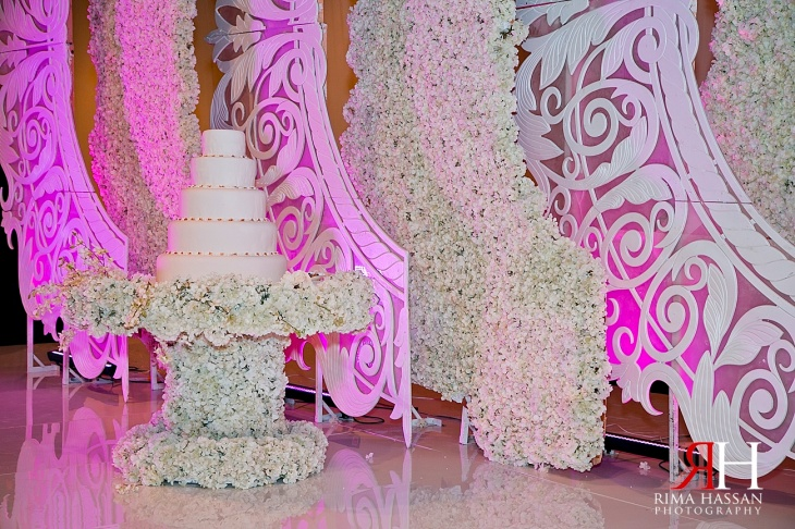 Trade_Center_Zabeel_Dubai_Wedding_Female_Photographer_UAE_Rima_Hassan_kosha_decoration_Joelle_cake_stage