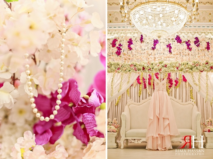 Markaz_Rasool_Sabahiya_Wedding_Female_Photographer_Dubai_UAE_Rima_Hassan_kosha_decoration_stage_dress_pink_engagement