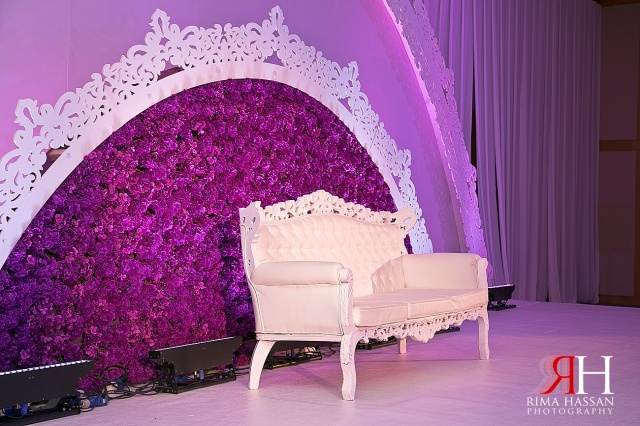 Sharja_Ladies_Club_Wedding_Female_Photographer_Dubai_UAE_Rima_Hassan_purple_stage_kosha_decoration