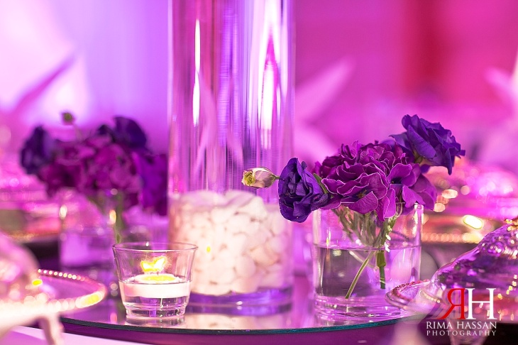 Sharja_Ladies_Club_Wedding_Female_Photographer_Dubai_UAE_Rima_Hassan_stage_kosha_decoration_centerpieces_flowers_purple
