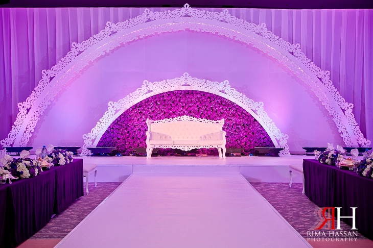 Sharja_Ladies_Club_Wedding_Female_Photographer_Dubai_UAE_Rima_Hassan_stage_kosha_decoration_purple