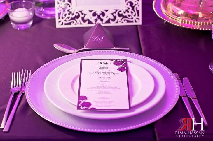 Sharja_Ladies_Club_Wedding_Female_Photographer_Dubai_UAE_Rima_Hassan_stage_kosha_decoration_purple_tableware