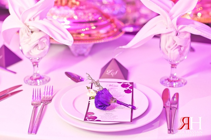 Sharja_Ladies_Club_Wedding_Female_Photographer_Dubai_UAE_Rima_Hassan_stage_kosha_decoration_table_setup-purple-plate