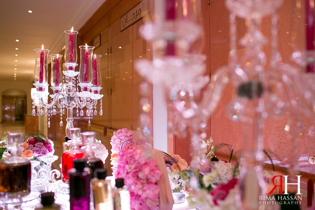 Sharjah_Ladies_Club_Wedding_Female_Photographer_Dubai_UAE_Rima_Hassan_stage_decoration_rose_kazan_perfume_table