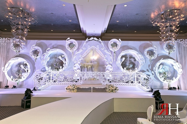 Arab rima hassan for Arab wedding stage decoration