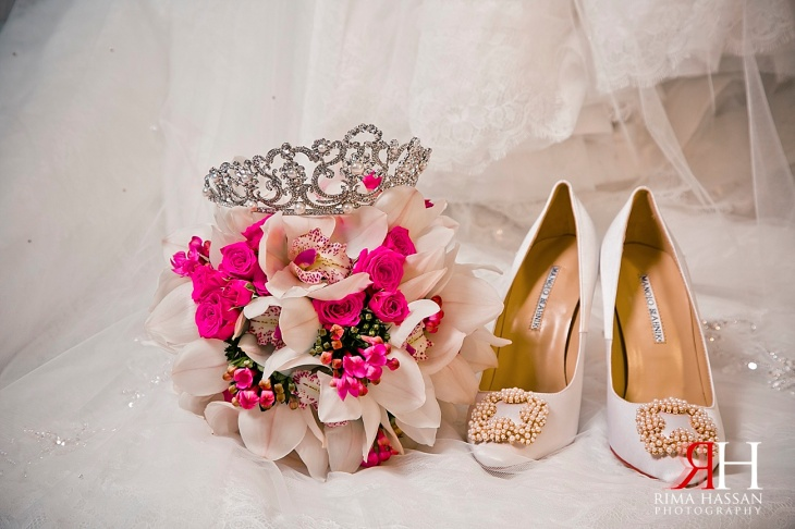 RAK_Wedding_Female_Photographer_Dubai_UAE_Rima_Hassan_bridal_shoes_manolo-blahnik_bouquet_crown