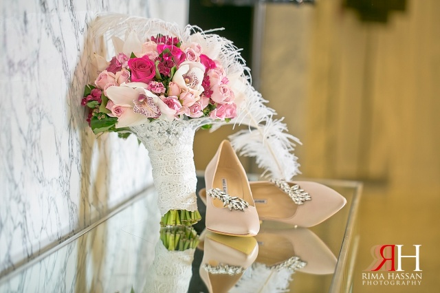 Le_Meridien_Wedding_Female_Photographer_Dubai_UAE_Rima_Hassan_bridal_shoes_manolo-blahnik_bouquet
