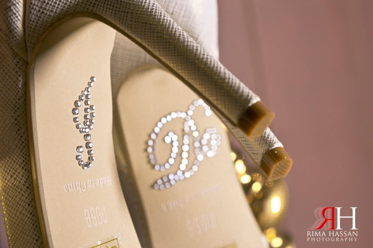 AL-Boom-Village_Wedding_Female_Photographer_Dubai_UAE_Rima_Hassan_bridal_shoes_nose_detail