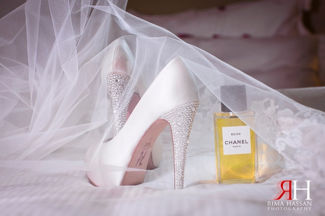 InterContinental_Dubai_Wedding_Female_Photographer_UAE_Rima_Hassan_bridal_shoes_gina_perfume_chanel
