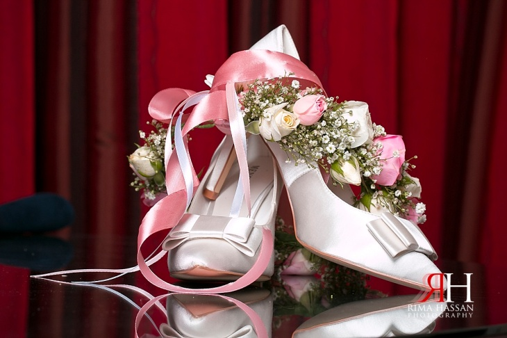 Bustan_Rotana_Female_Wedding_Photographer_Dubai_UAE_Rima_Hassan_bridal_menbur_shoes