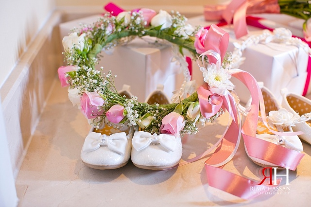 Bustan_Rotana_Female_Wedding_Photographer_Dubai_UAE_Rima_Hassan_flower_girl_shoes_crown