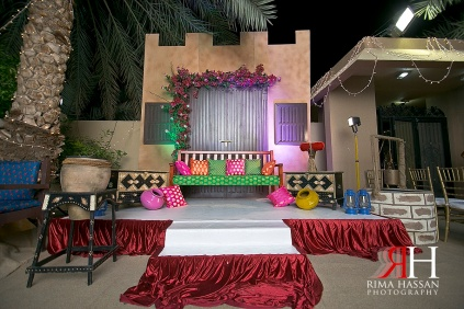 Henna_Mirdif_Wedding_Female_Photographer_Dubai_UAE_Rima_Hassan_kosha_stage_decoration