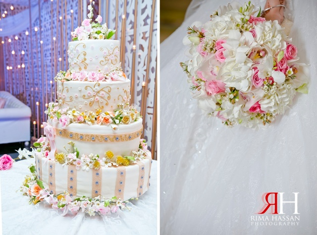 Crowne_Plaza_Wedding_Female_Photographer_Dubai_UAE_Rima_Hassan_kosha_stage_decoration_cake_bouquet
