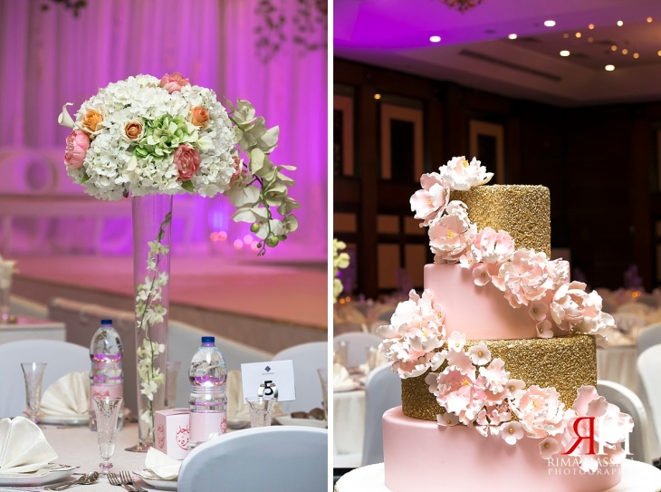 Dubai_Trade_Center_Wedding_Female_Photographer_UAE_Rima_Hassan_kosha_decoration_stage_centerpiece_cake