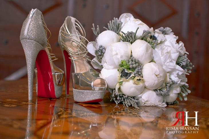 Madinat_Jumeirah_Wedding_Female_Photographer_Dubai_UAE_Rima_Hassan_bridal_bouquet_shoes_louboutin