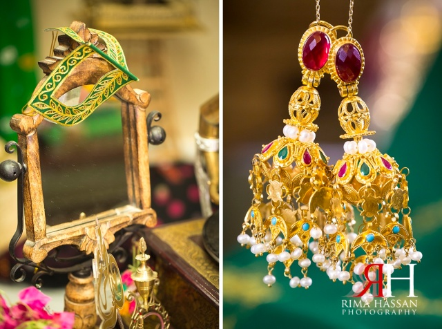 Barsha_Henna_Female_Wedding_Photographer_Dubai_UAE_Rima_Hassan_bridal_earrings_stage_decoration
