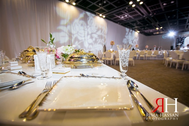 zabeel_trade_center_wedding_female_photographer_dubai_uae_rima_hassan_kosha_decoration_stage_tableware