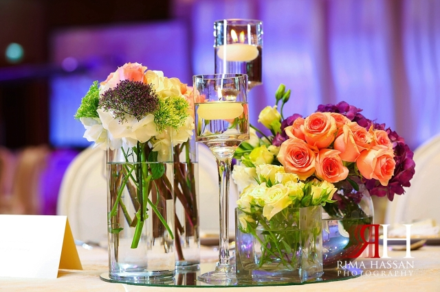 ritz_carlton_dubai_female_wedding_photographer_rima_hassan_kosha_stage_decoration_centerpiece