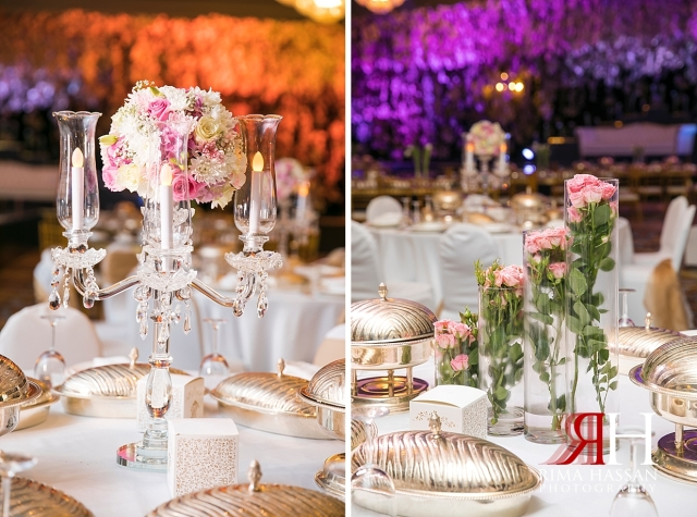 Bustan_Rotana_Dubai_Wedding_Female_Photographer_Rima_Hassan_kosha_stage_decoration_centerpieces