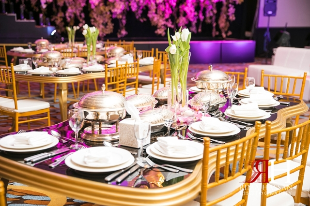 Bustan_Rotana_Dubai_Wedding_Female_Photographer_Rima_Hassan_kosha_stage_decoration_table