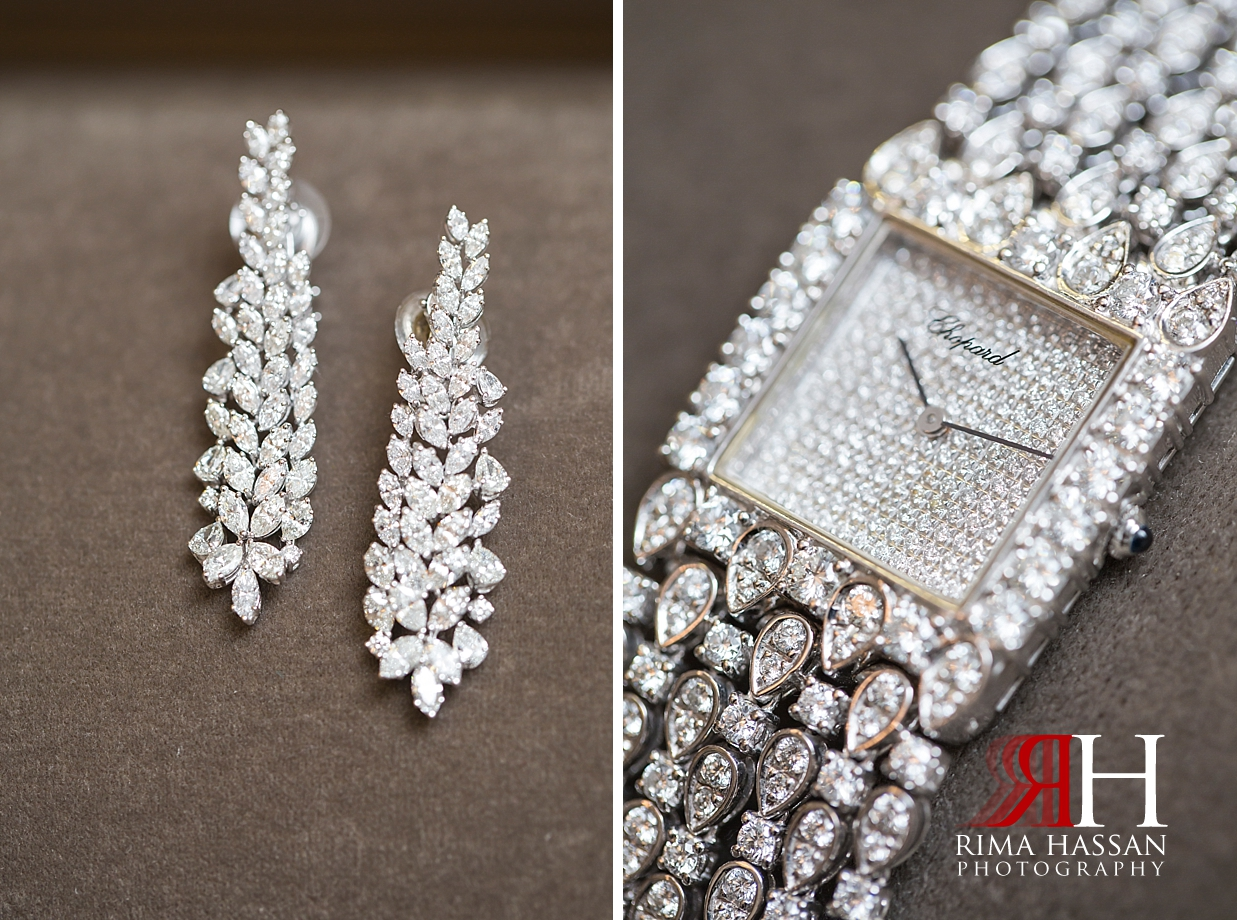 Saint_Regis_Dubai_Wedding_Female_Photographer_Rima_Hassan_bride_jewelry_watch_earrings