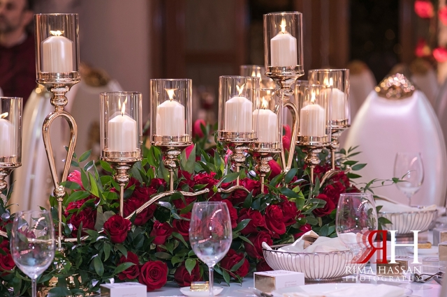 Saint_Regis_Dubai_Wedding_Female_Photographer_Rima_Hassan_stage_kosha_decoration_centerpiece_candles