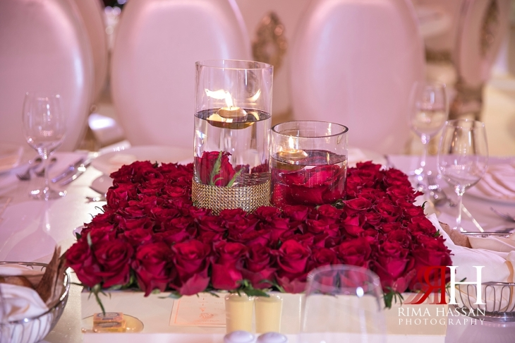 Saint_Regis_Dubai_Wedding_Female_Photographer_Rima_Hassan_stage_kosha_decoration_roses_centerpiece