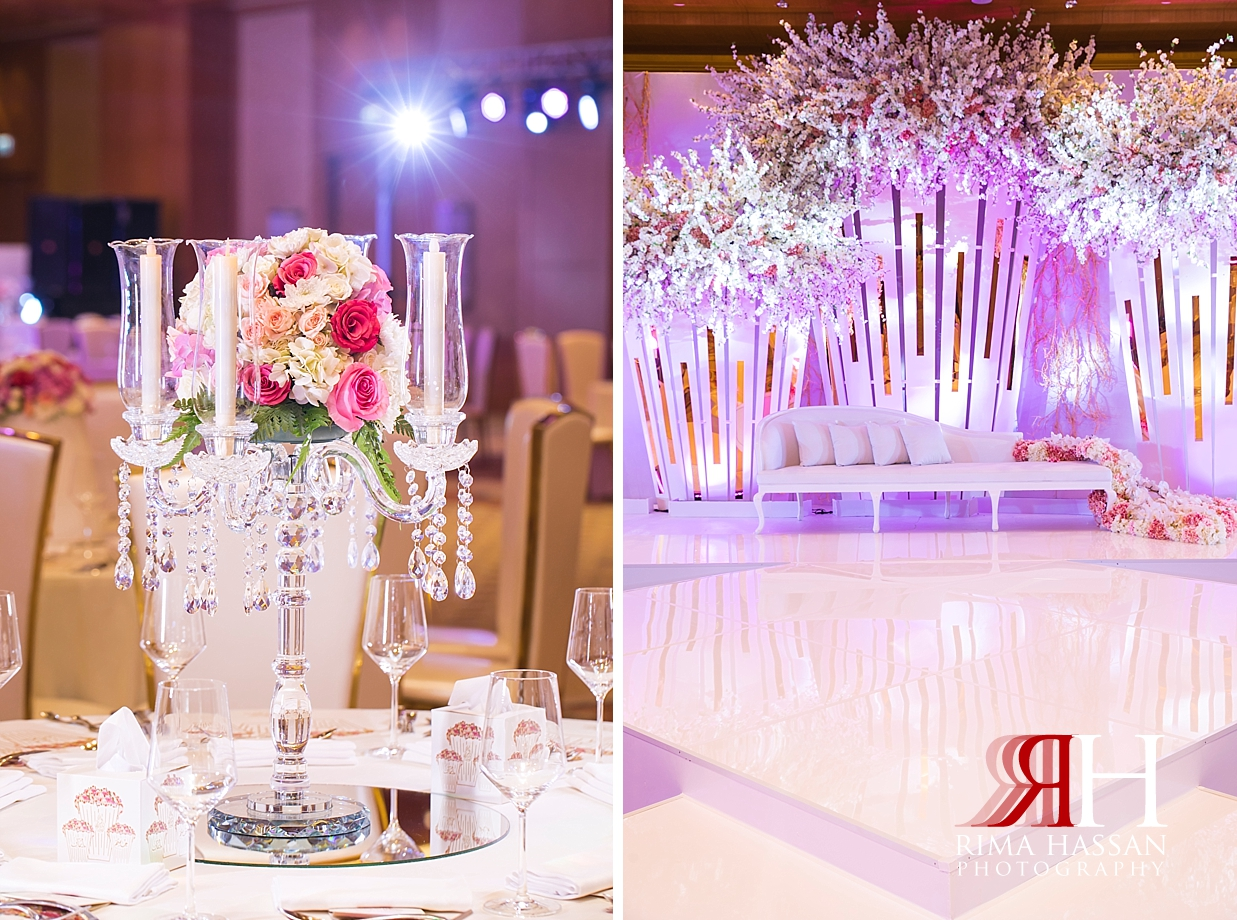 Ritz_Carlton_DIFC_Wedding_Female_Dubai_Photographer_Rima_Hassan_kosha_decoration_centerpiece_stage
