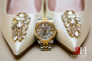 Ajman_Wedding_Female_Photographer_Rima_Hassan_bride_shoes_watch