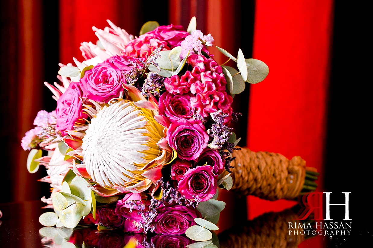 Bustan_Rotana_Dubai_Wedding_Female_Photographer_Rima_Hassan_Bride_bouquet_moz_flowers