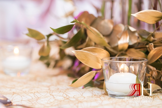 Marriott_Jaddaf_Wedding_Female_Dubai_Photographer_Rima_Hassan_stage_kosha_decoration_flower_candles
