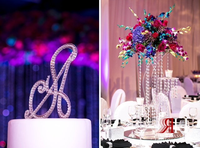 Crown_Plaza_Wedding_Dubai_Female_Photographer_Rima_Hassan_kosha_stage_centerpiece_decoration_ariel_cake