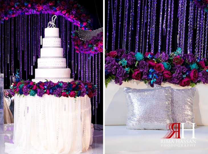 Crown_Plaza_Wedding_Dubai_Female_Photographer_Rima_Hassan_kosha_stage_decoration_ariel_cake