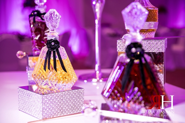 Crown_Plaza_Wedding_Dubai_Female_Photographer_Rima_Hassan_kosha_stage_decoration_ariel_perfume_table