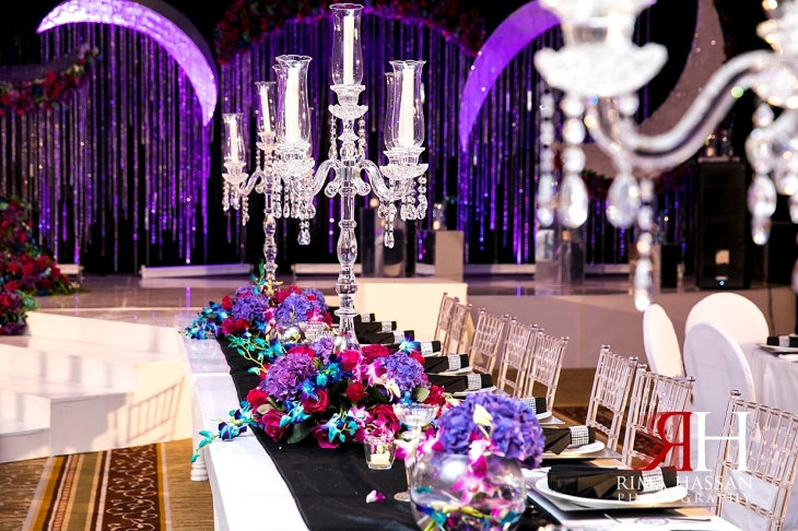 Crown_Plaza_Wedding_Dubai_Female_Photographer_Rima_Hassan_kosha_stage_decoration_ariel_vip_table