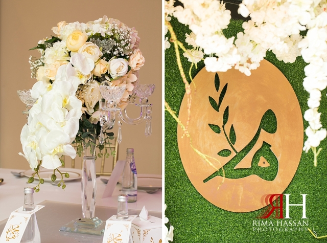 RAK_Engagement_Female_Photographer_Dubai_Rima_Hassan_kosha_decoration_stage_logo_centerpiece