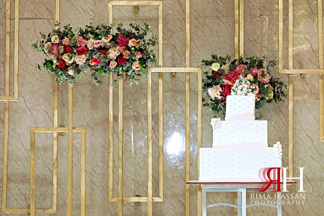 Barsha_Hall_Dubai_Wedding_Female_Photographer_Rima_Hassan_kosha_decoration_stage_cake