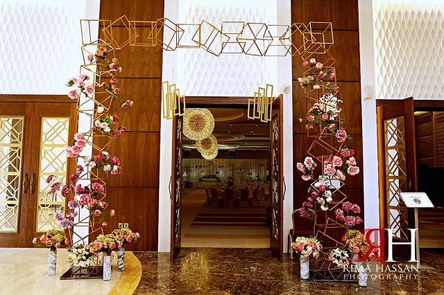 Barsha_Hall_Dubai_Wedding_Female_Photographer_Rima_Hassan_stage_decoration_entrance